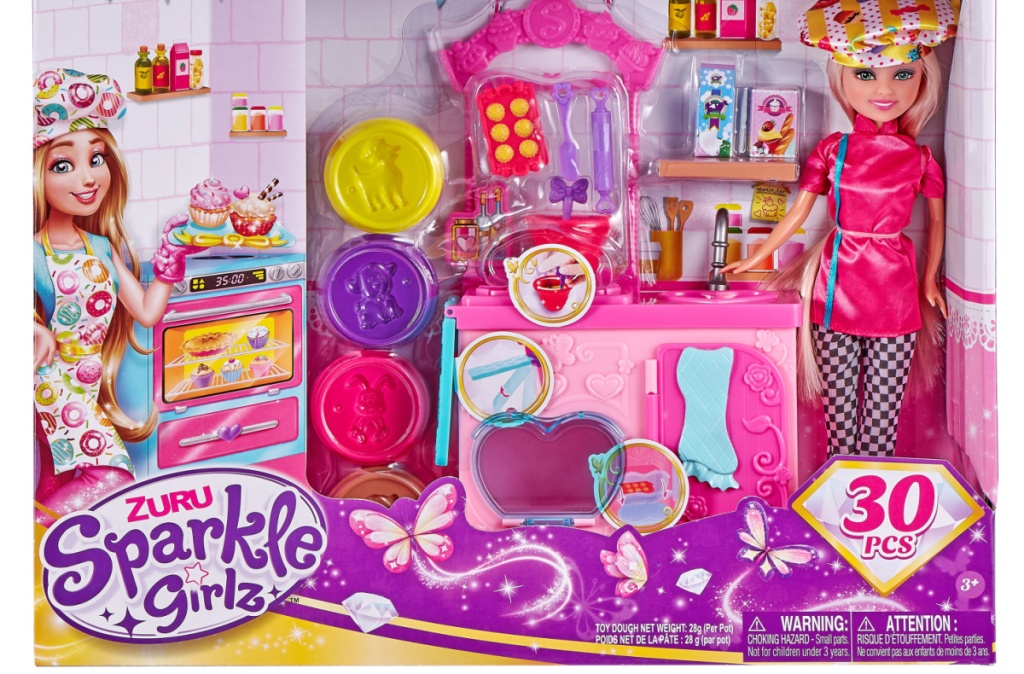 Doll playset in package