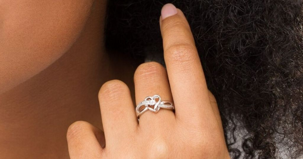 ring on a womans hand