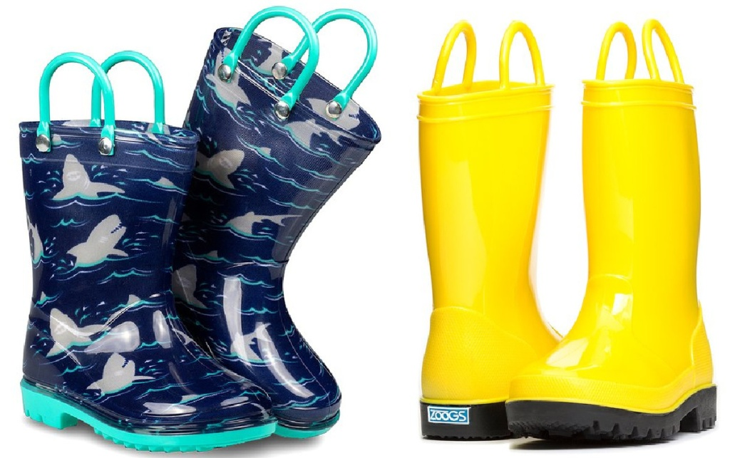 2 pair of boys zoog rain boots