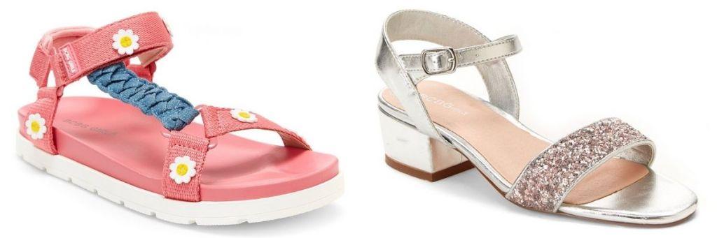 2 pair Zulily Girls Sandals