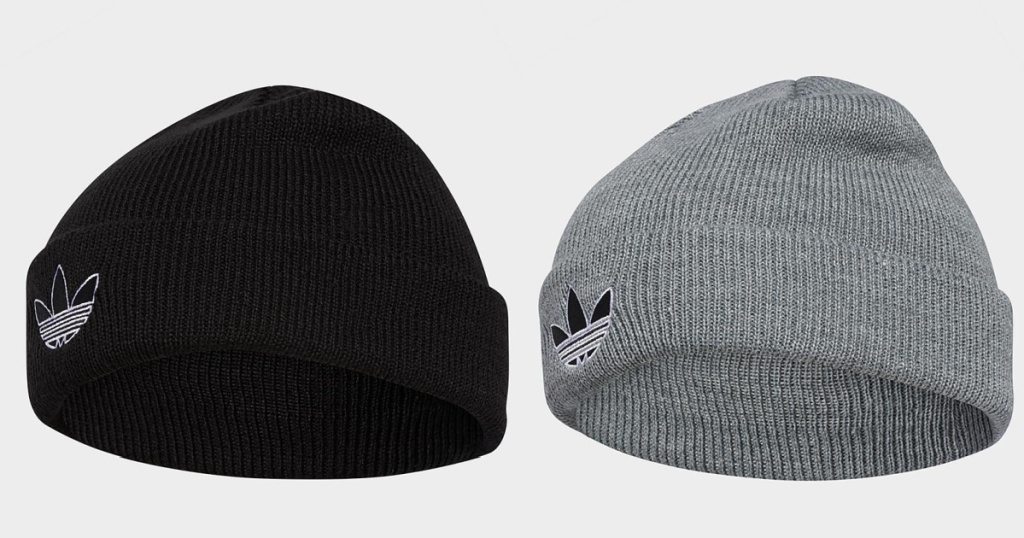adidas beanie black and gray