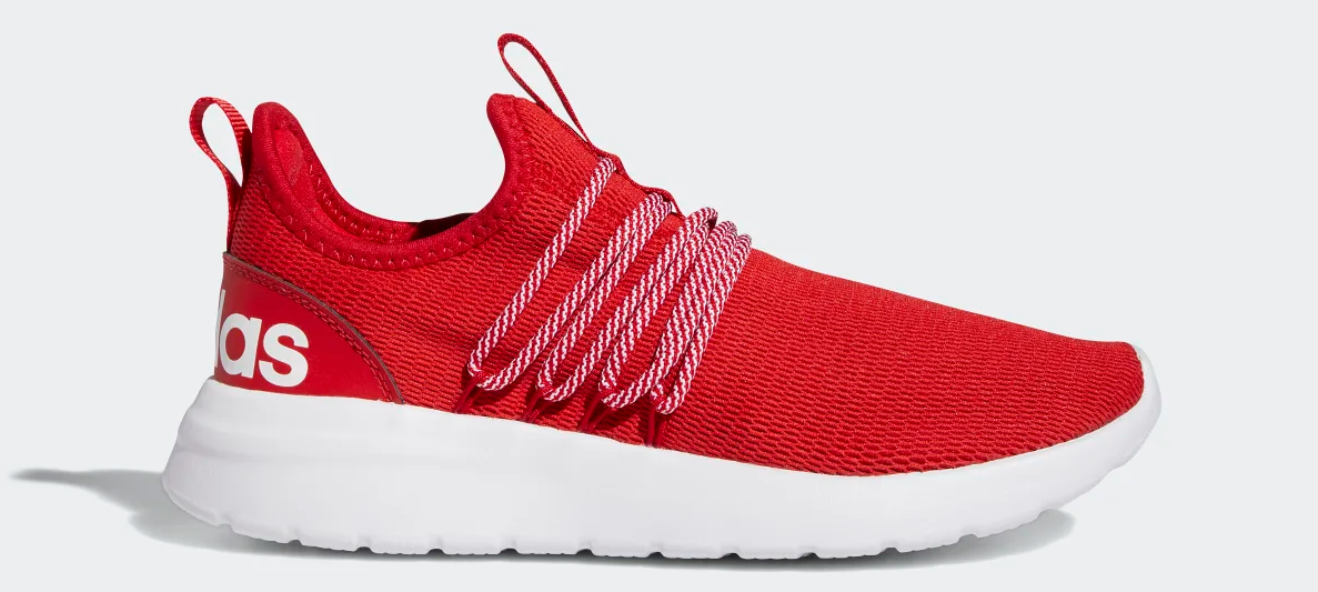 red and white sneaker