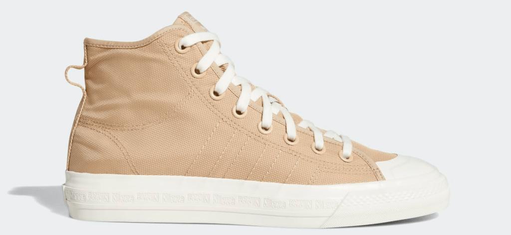tan and white sneaker