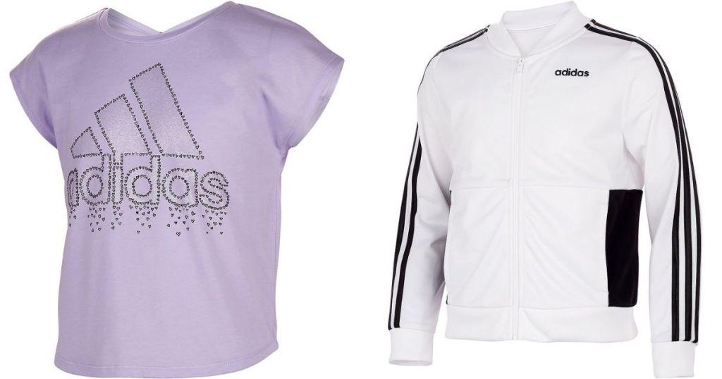 adidas shirt and jacket