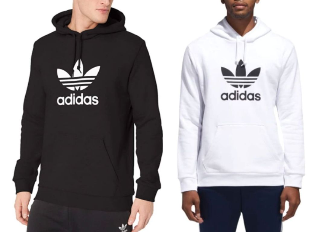 black and white adidas hoodies