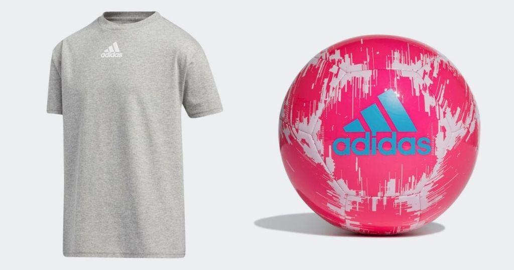 adidas tee and soccer ball