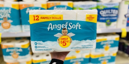 Angel Soft Toilet Paper 12-Count Family Rolls from $3.60 on Walgreens.com