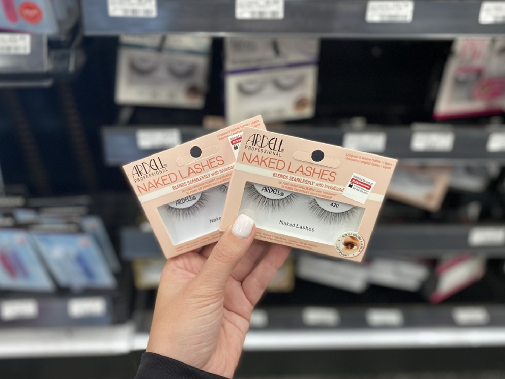 ardell naked eyelashes in hand at store