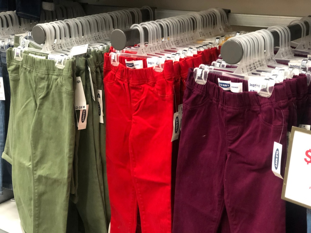 baby jeans in store at old navy