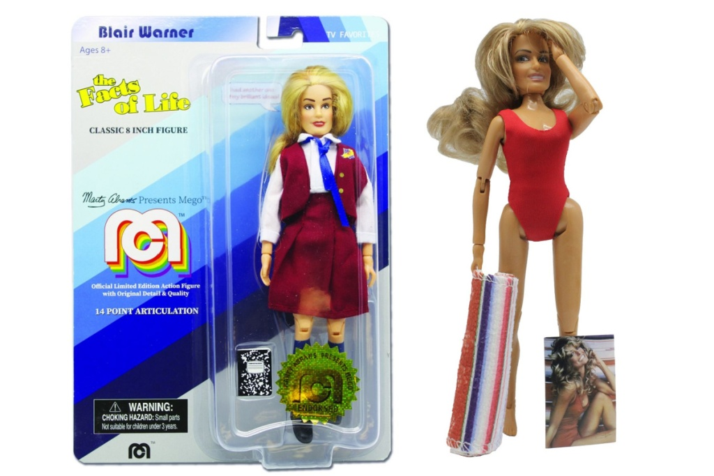 blair and farrah action figures one in package