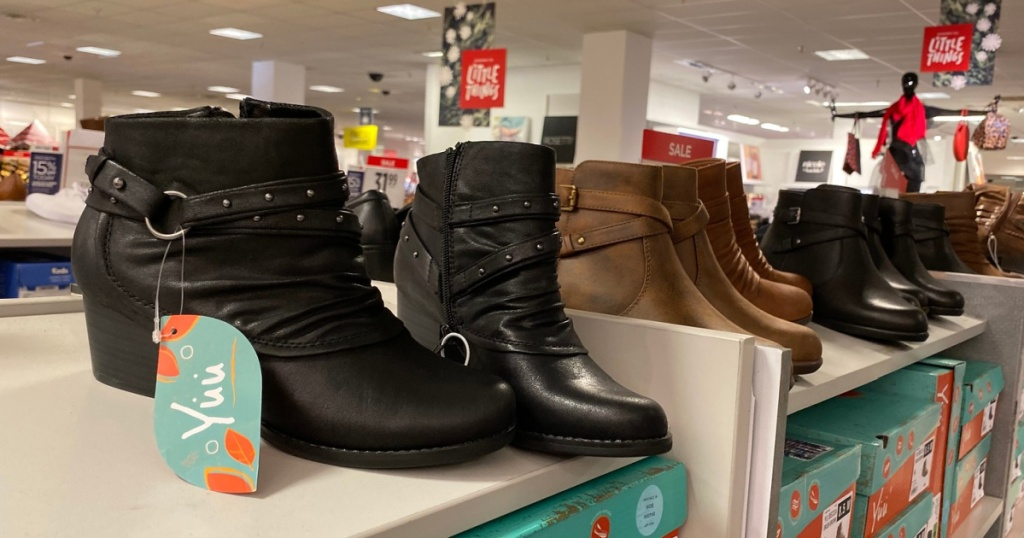 boots at JCPenney in store