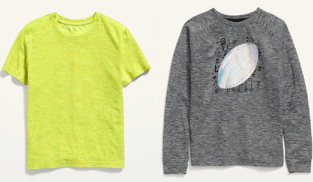 boys active tops at old navy