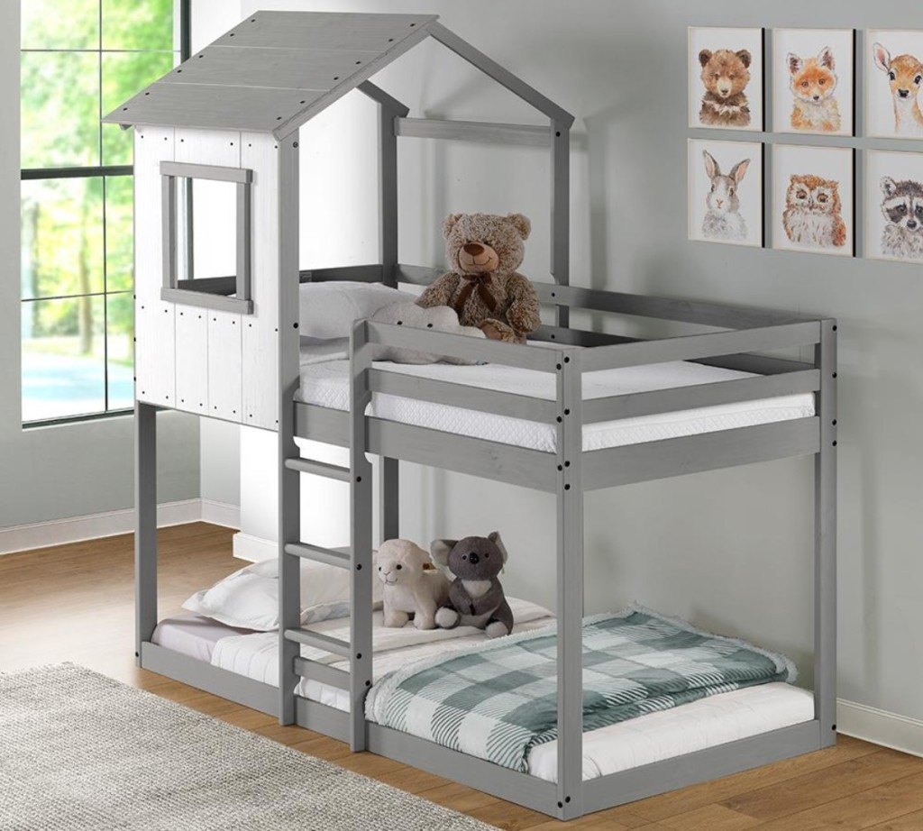 tree house-style bunk bed