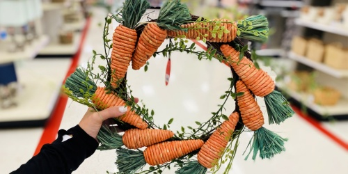 We're Digging this Carrot Wreath at Target for Only $15!