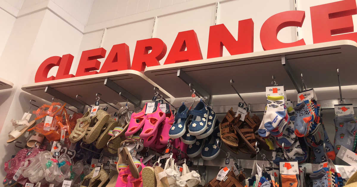 carters clearance w/ shoes in store