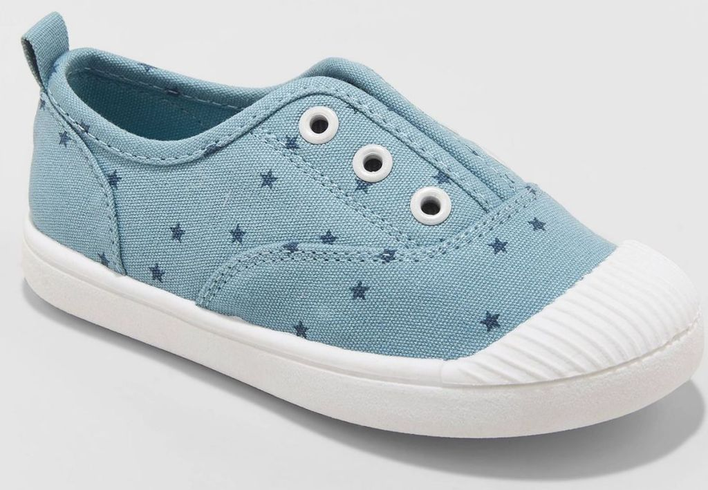 cat & jack slip on kids shoe blue stars