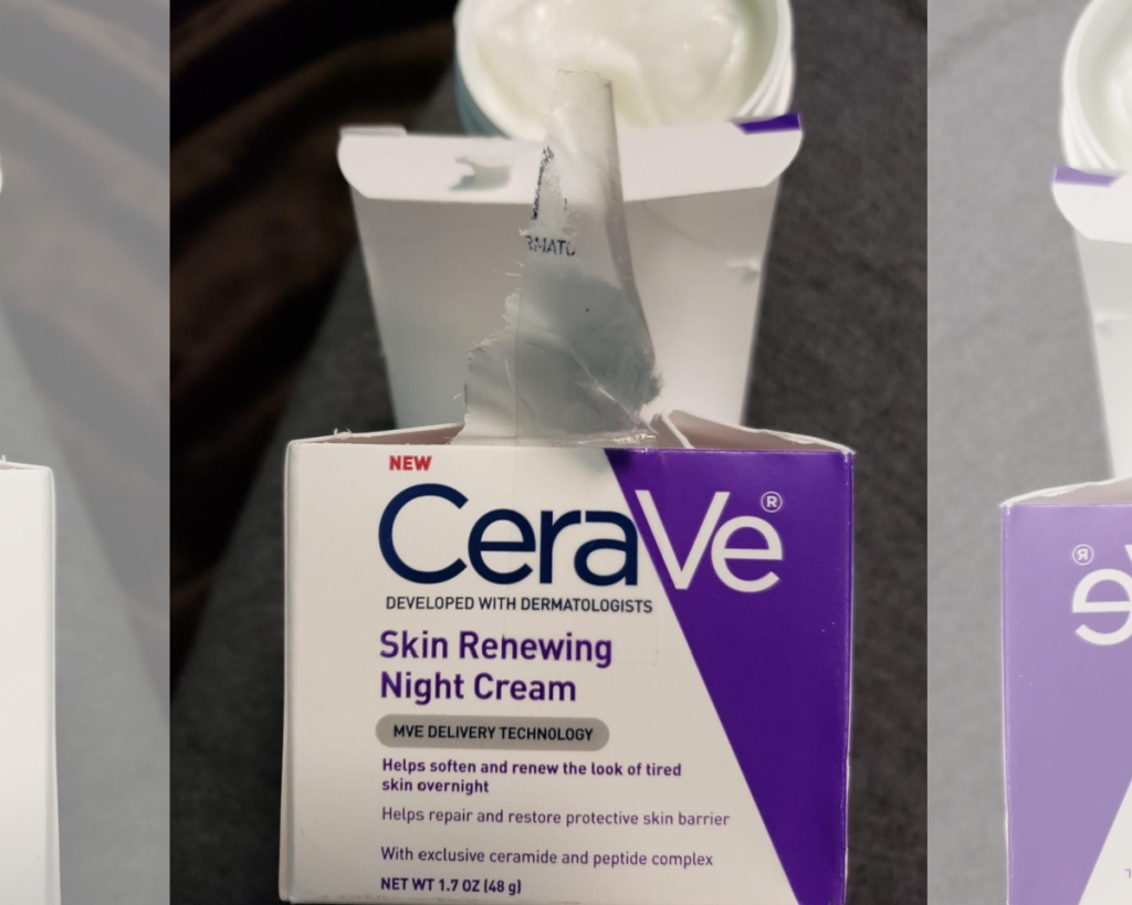 cerave night cream with box opened