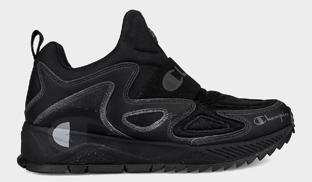 champion kids shoe black