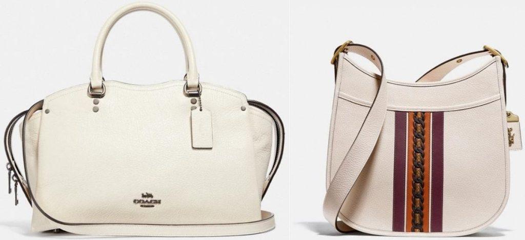 two coach handbags