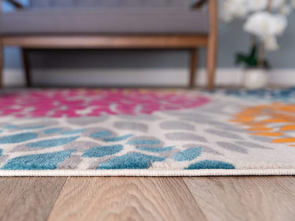 colorful rug on floor