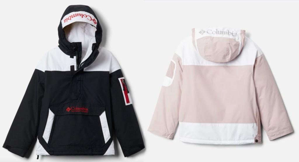 columbia challenger jacket black and pink