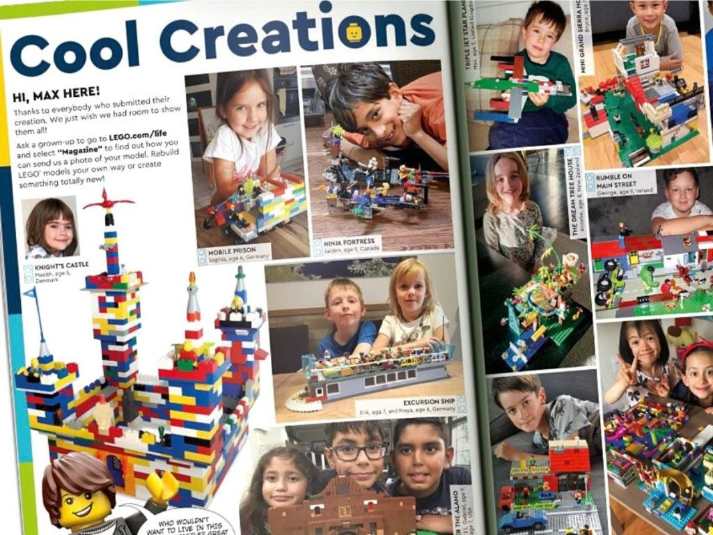 Cool Creations in LEGO magazine