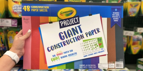 Crayola Project Giant Construction Paper 48-Pack w/ Stencil Sheet Only $3 Shipped on Staples.com
