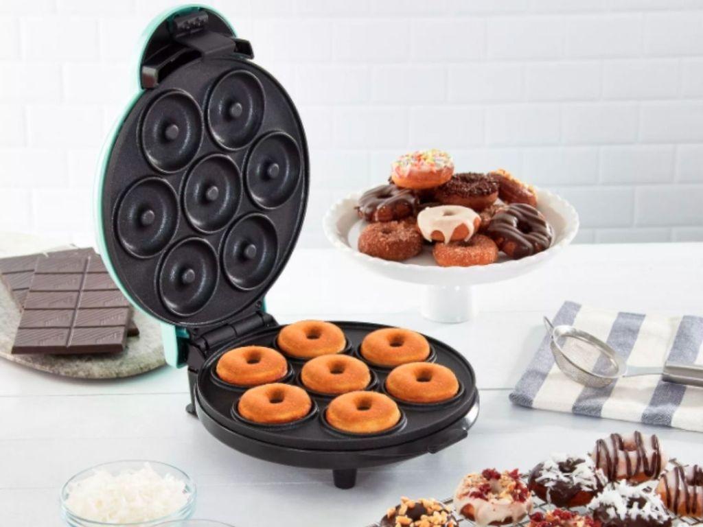 opened mini donut maker
