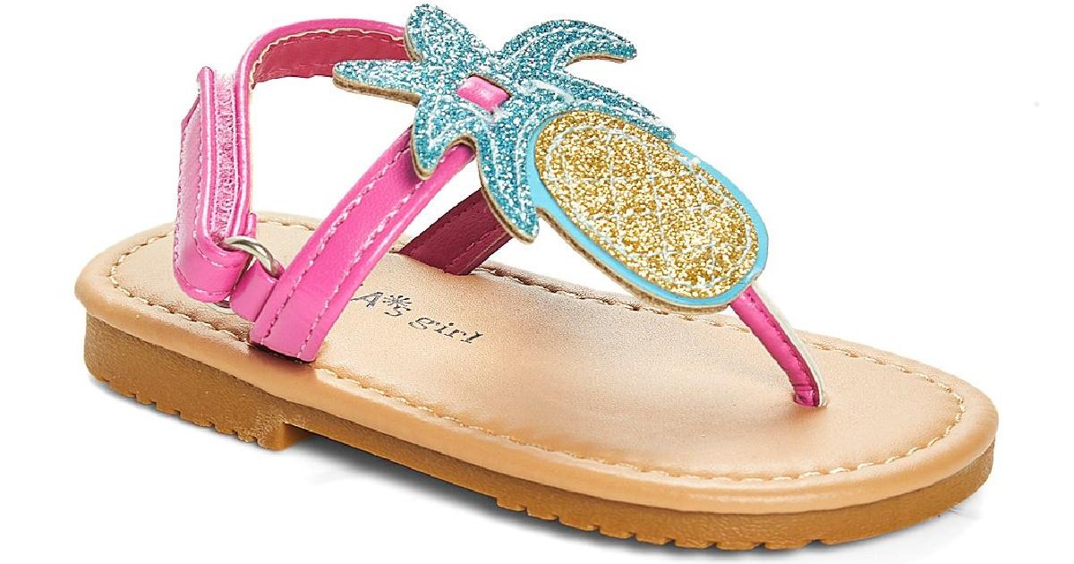 Pineapple themed girls sandal