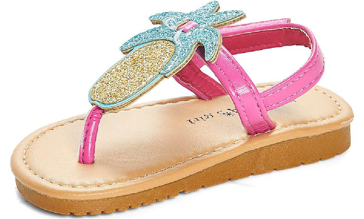 Pineapple themed girls summer sandal