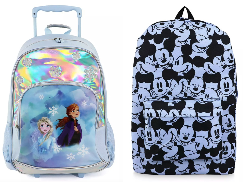 disney backpacks frozen and mickey