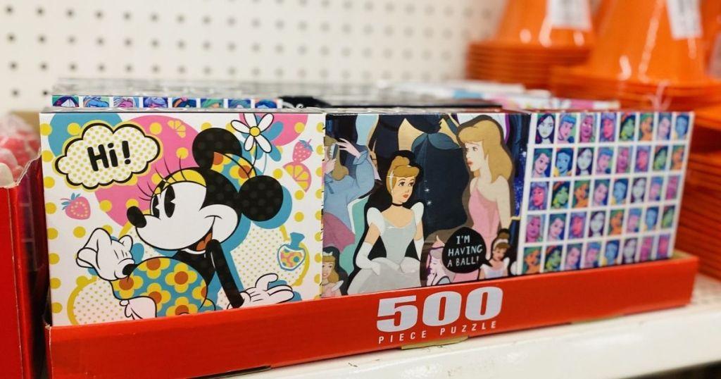 disney 500-piece puzzle boxes