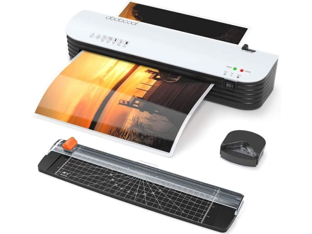 laminator, paper cutter and rounded corner trimmer