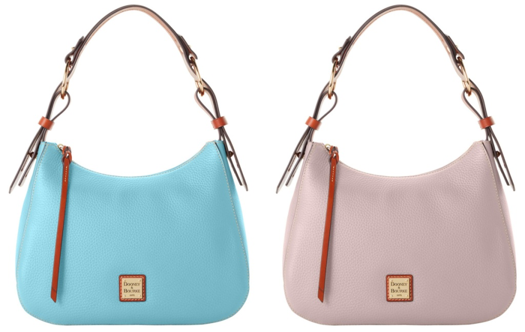 dooney hoboh bag in blue and pink
