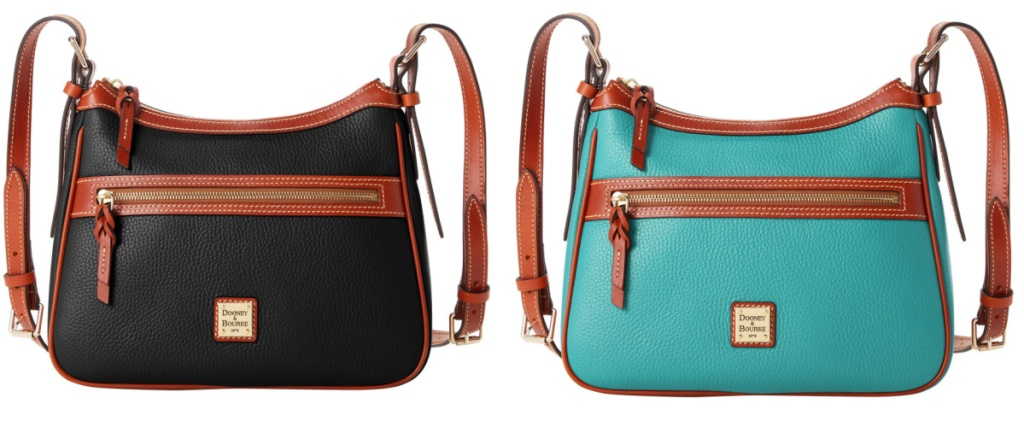 two dooney purse black and teal