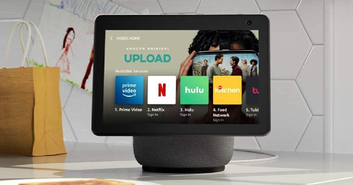 Amazon Echo Show 10 on a countertop