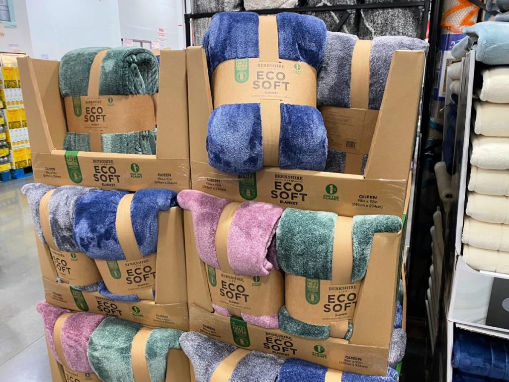 eco soft berkshire blankets at Costco