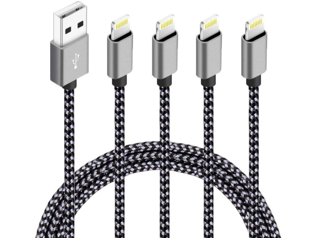 firsting 4-pack black and gray cables