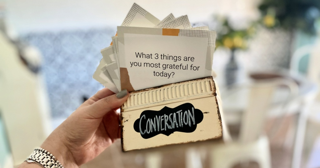 free printable conversation starters in a box