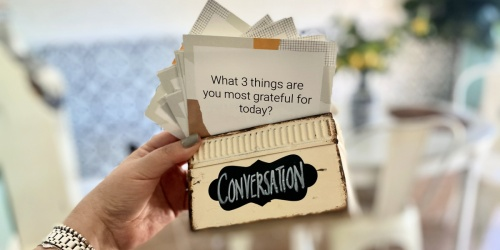 Get the Family Chatting Together Using our FREE Printable Dinner Conversation Starter Cards!
