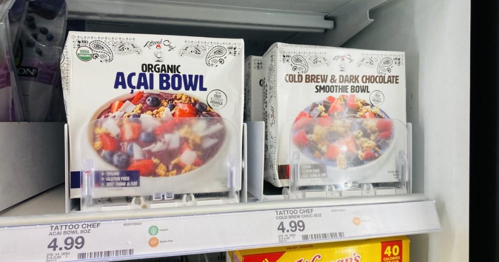 frozen smoothie bowl on shelf at target