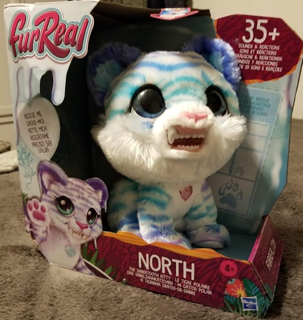 furreal sabertooth kitty in box