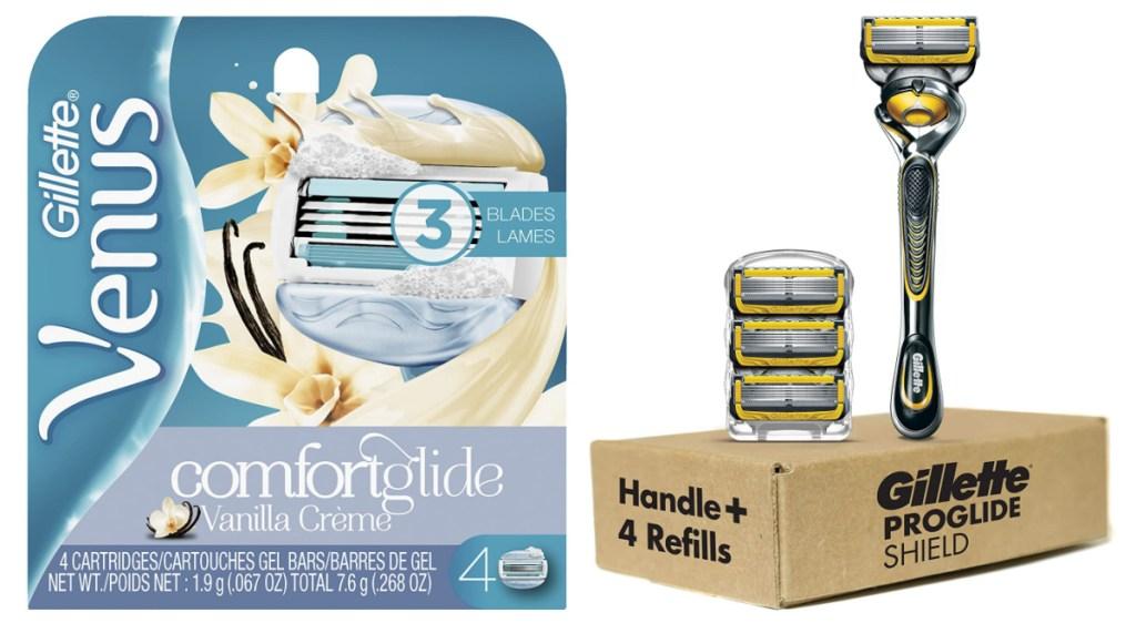 gillette venus comfortglide and proglide shield razor