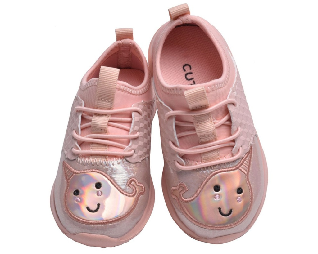 pair of girls narwhal shoes