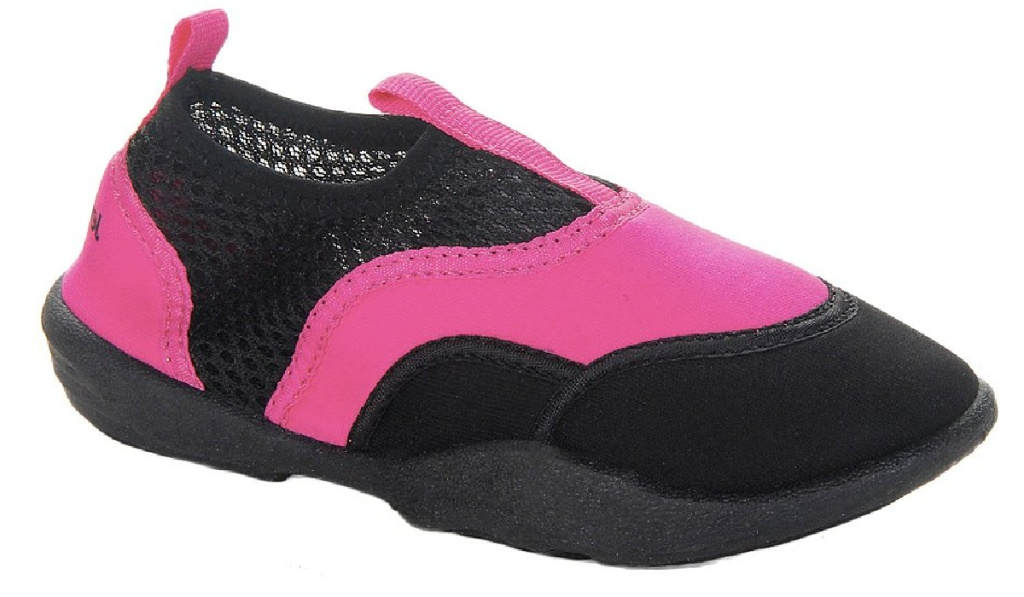 girls water shoes black and pink