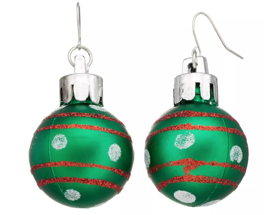 green ornament ball earrings jewelry from kohls