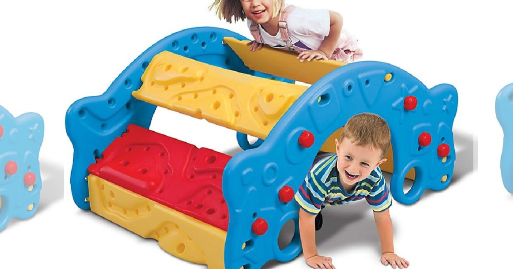 kids playing with grow'n up climber toy