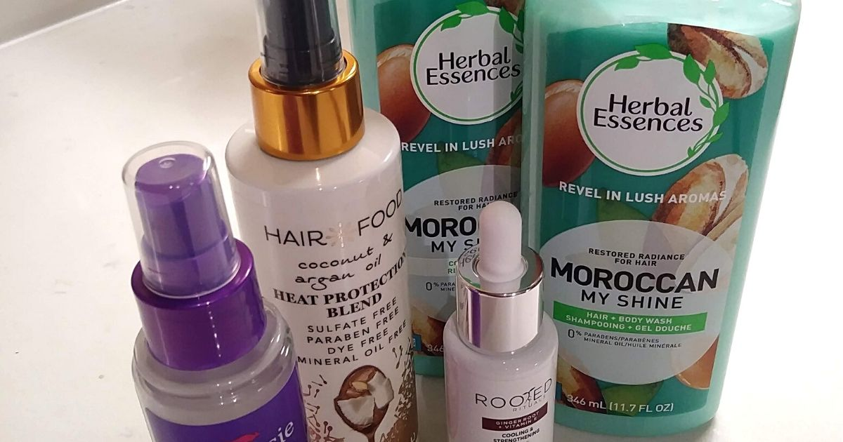 Herbal Essences, Hair Food, Rooted and Aussie products
