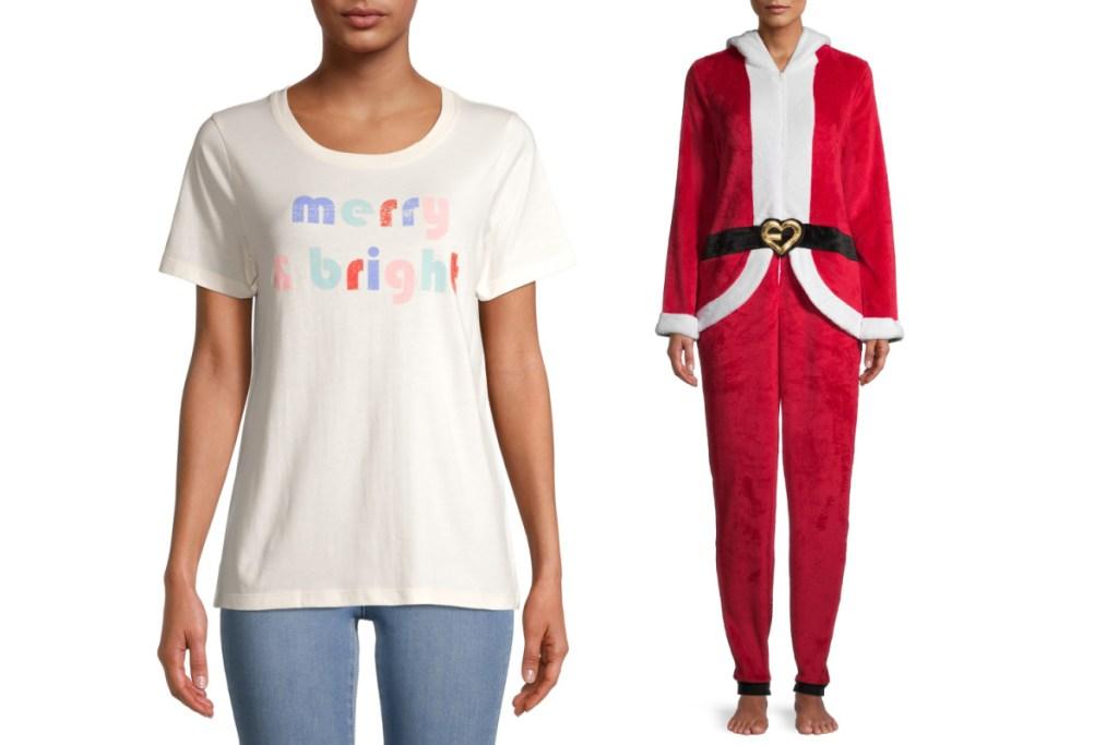 holiday apparel + santa union suit