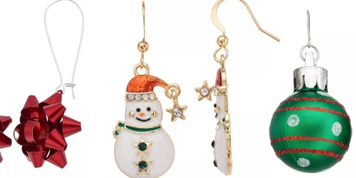 Cute Holiday Earrings from $2.80 Shipped for Kohl's Cardholders (Regularly $10)